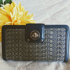 MARC JACOBS Leather wallet Signature Navy blue